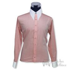 Mens Spear point collar Vintage shirt 1930s 40s Orange Herringbone Cotton Gents