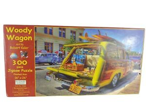 SUNS OUT Jigsaw Puzzle 300 pieces WOODY WAGON by ROBERT KALER