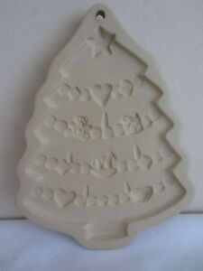 Vintage Brown Bag Cookie Art 1986 Hill Design Christmas Tree Holiday Craft Mold