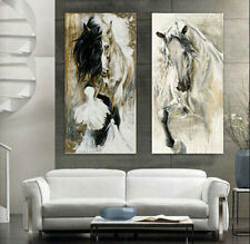 CHOP108 hand-painted modern abstract wall art horse oil painting on canvas