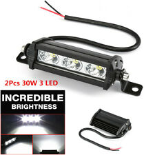 2Pcs 30W Offroad Car Truck Headlight 3 LED Spot Beam Work Light Bar Universal