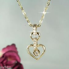 N11 18K Gold Plated Heart with Crystal Necklace & Pendant - Gift boxed