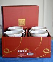 Lenox MERRY AND BRIGHT Snowflake SET OF 4 Christmas Coffee Christmas Mugs BOXED