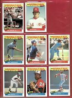 1986 FLEER BASEBALL'S BEST SLUGGERS VS PITCHERS BASEBALL CARDS SET 42/44