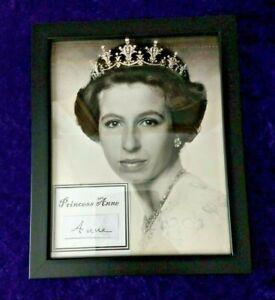 1973 Princess Anne official birthday portrait with handwritten signature