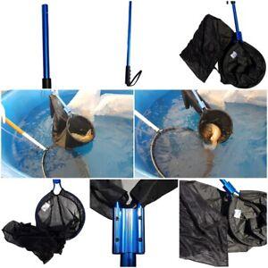 Heavy Duty Interchangeable Koi Fish Sock Net Combo Pack W/2 Lengths of Poles