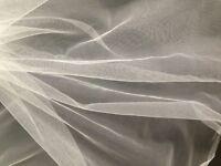 VERY FINE FILTER FABRIC-NYLON MESH-WATER STRAIN-MOSQUITO-1m x 300 cm-SILK WHITE.