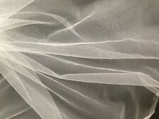 VERY FINE FILTER FABRIC-NYLON MESH-WATER STRAIN-MOSQUITO-1m x 300 cm-SILK WHITE.