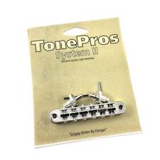 Tone Pros Nickel T3BP Locking Nashville Tunematic Guitar Bridge GB-2543-001