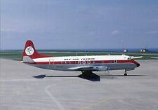 Airliner Postcard Dan Air Viscount Jersey Airport