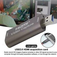 HDMI Video Capture Card USB 1080p HD Recorder For Video Streaming Live F3J4