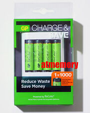 GP Recyko+ 2100mAh AA Rechargeable Recharge Battery 1.2V with USB Charger