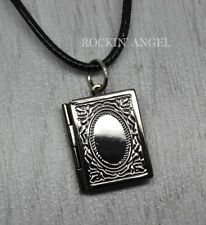 Gunmetal Photobook Locket Pendant  Necklace photo frame gift ladies, girls