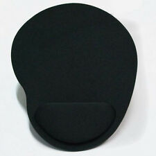 Black mouse mat with wrist rest support