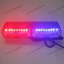 16 LED Blue/Red Strobe Flash Light Dash Police Emergency Flashing Lamp