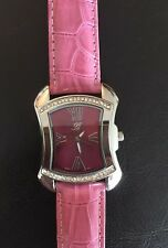 Burgi BTV011  Ladies' Stainless Steel Watch ~ Pink Band 💖