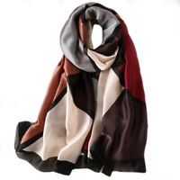 Foulard 180 X 90cm 100% Soie motif moderne - Silk séide scarf shawl