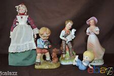 Vintage PORCELAIN DOLLS 1989 AVON Americana + Enesco boy girl toddler Group of 5