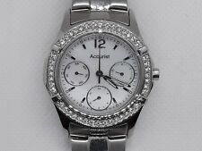 BEAUTIFUL ACCURIST LADIES WOMENS STEEL & DIAMOND WRIST WATCH LB1643BP - NEW