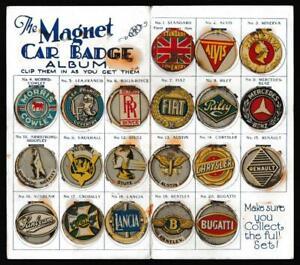 Amalgamated Press - 'Magnet Car Badge Album'