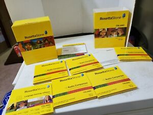 Rosetta Stone Italian Complete Level 1-5 Version 3 Set Language CDs