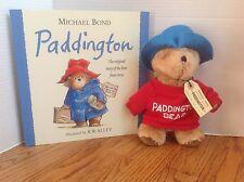 Lot PADDINGTON Book & EDEN Plush Stuffed Toy BEAR Michael Bond CLEAN & Darling!