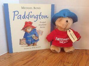 Lot Eden PADDINGTON Plush Bear & Book Michael Bond Stuffed Toy CLEAN & Darling!