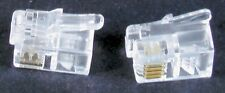 RJ11 Telephone plugs for Stranded Cable Packet of 5 4P4C PP1430