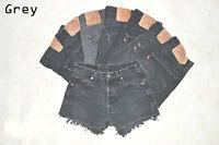 Vintage Womens Levis Denim High Waisted Shorts Jeans Hotpants 4 6 8 10 12 14 16