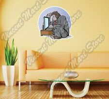 "Business Gorilla Monkey Office Computer Wall Sticker Room Interior Decor 22""X22"""