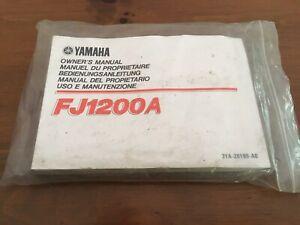 Yamaha FJ1200A Owners Manual