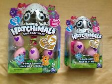 HATCHIMALS SEASON 2 COLLEGGTIBLES - 4 PACK + BONUS - 2 PACK + NEST - LOT OF 2