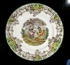 Beautiful Copeland Spode Byron Green Trim Dinner Plate