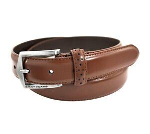 Stacy Adams Men's 30 MM Pinseal Leather Belt