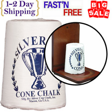 Silver Cup Billiard/Pool Cone Chalk keep hands smooth cool and dry One Pack