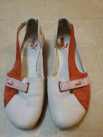 Puma Espera  Womens 7.5 white Pink Leather Sport Ballet Flats