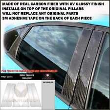 FITS DODGE CHARGER 2005-07 REAL BLACK CARBON FIBER WINDOW PILLAR POSTS - 6 PCS
