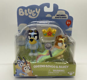 BLUEY QUEENS BINGO AND BLUEY 2 PACK FIGURE SET Bluey Friends