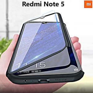 COVER per Xiaomi Redmi Note 5 CUSTODIA Fronte Retro 360° Protezione TOTALE Case