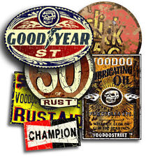 GOODYEAR STICKER Pack par Voodoo Street ™, Rat Look, Hot Rod, Personnalisé, Chop, scooter