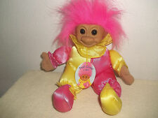 Soft Body Troll Clown by Russ Wearing a Pink & Yellow Clown Suit