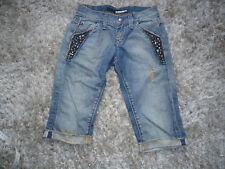 Capri jeans Miss Sixty, Gr. 25, neu, destroyed mit Nieten
