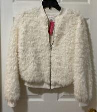 Women's Long Sleeve Zip-Up Sherpa Bomber Jacket - Xhilaration Cream