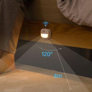 Wireless LED Motion Sensor Lights Night Light Battery Cabinet Stair PIR Lamp