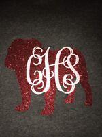 Longsleeve Georgia Bulldog Shirt Monogram Initials Personalized