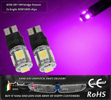 LED T10 W5W 501 Pink Purple Xenon Police Strobe Flash Side Lights Parking Bulb