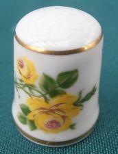 AK Kaiser W Germany Fingerhut Nr. 88 Porzellan NEU gelbe Rose Thimble Fingerhüte