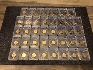 (39) ANACS MS 67 Presidential $1 Dollars Complete Philadelphia Set 2007-2016