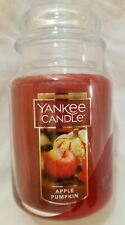 Yankee Candle APPLE PUMPKIN Large Jar 22 Oz New Housewarmer Fall Brown Red Fruit