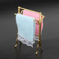1//12 Dollhouse Miniature Bathroom Towels Rack Set for Decoration Accessories TO